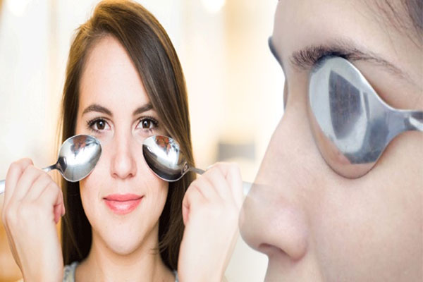 Use Frozen Spoon for Puffy Under Eyes