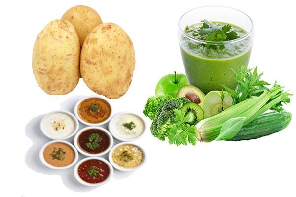 potato, vegetable concentrates, sauces