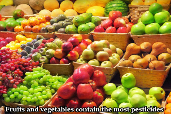 vegetables contain the most pesticides